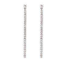 Messika 18ct Rose Gold Gatsby Diamond Bar Earrings