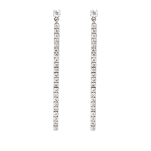 Messika 18ct White Gold Gatsby Diamond Bar Earrings