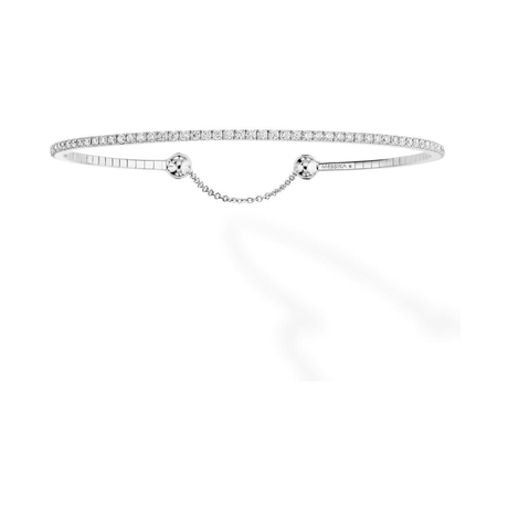 Messika 18ct White Gold Skinny 0.88ct Diamond Bracelet