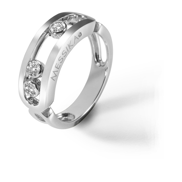 Messika Move Classique Diamond Set Ring in 18ct White Gold