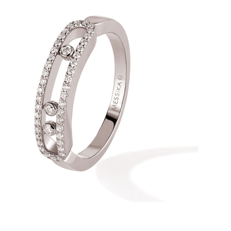 Messika Move Classique 0.25ct Pave Set Diamond Ring in 18ct White Gold