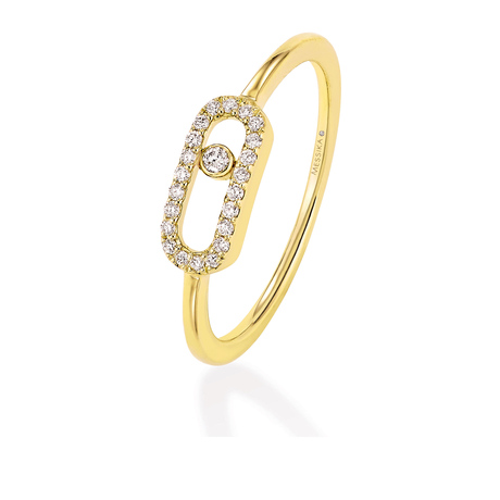 Messika Move Classique 0.09ct Diamond Pave Ring in 18ct Yellow Gold
