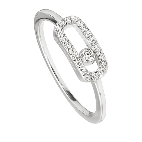 Messika Move Classique 0.09ct Diamond Pave Ring in 18ct White Gold