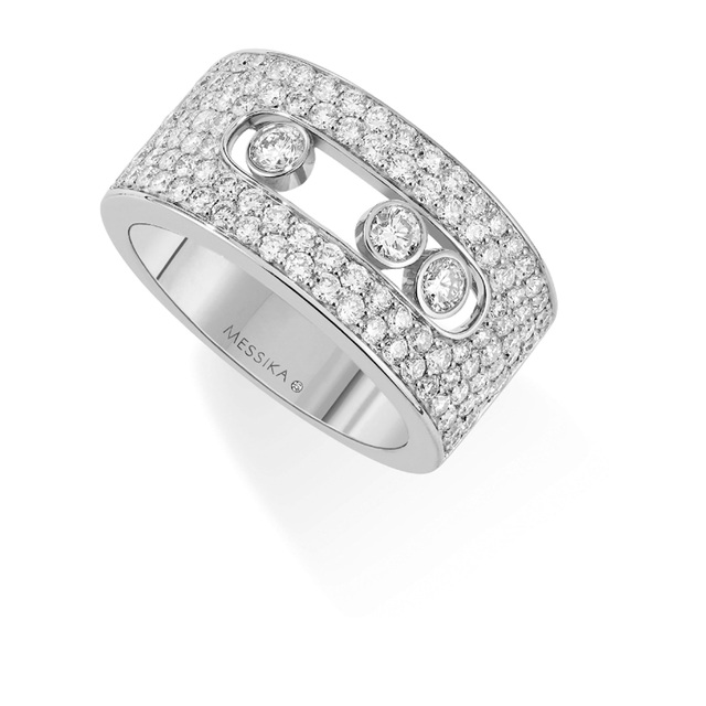 Messika Move Joaillerie Pave Set Diamond Ring in 18ct White Gold