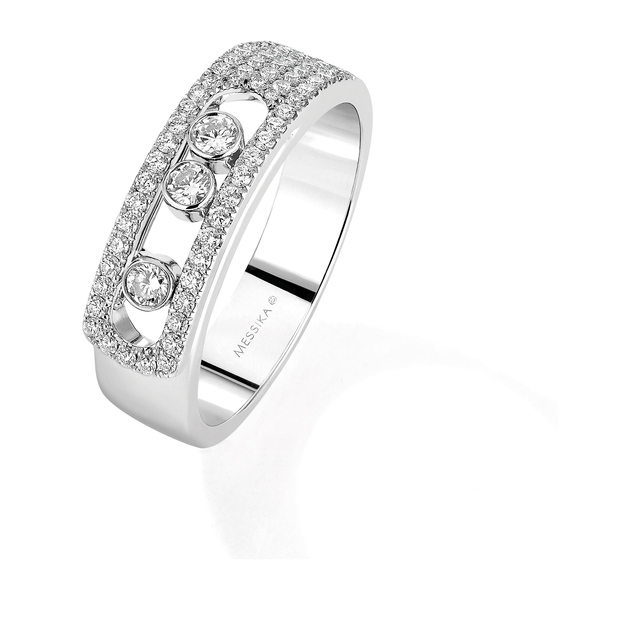 Messika Move Joaillerie Pave Set Ring in 18ct White Gold