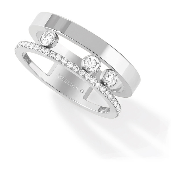 Messika Move Joaillerie Diamond Set Ring in 18ct White Gold