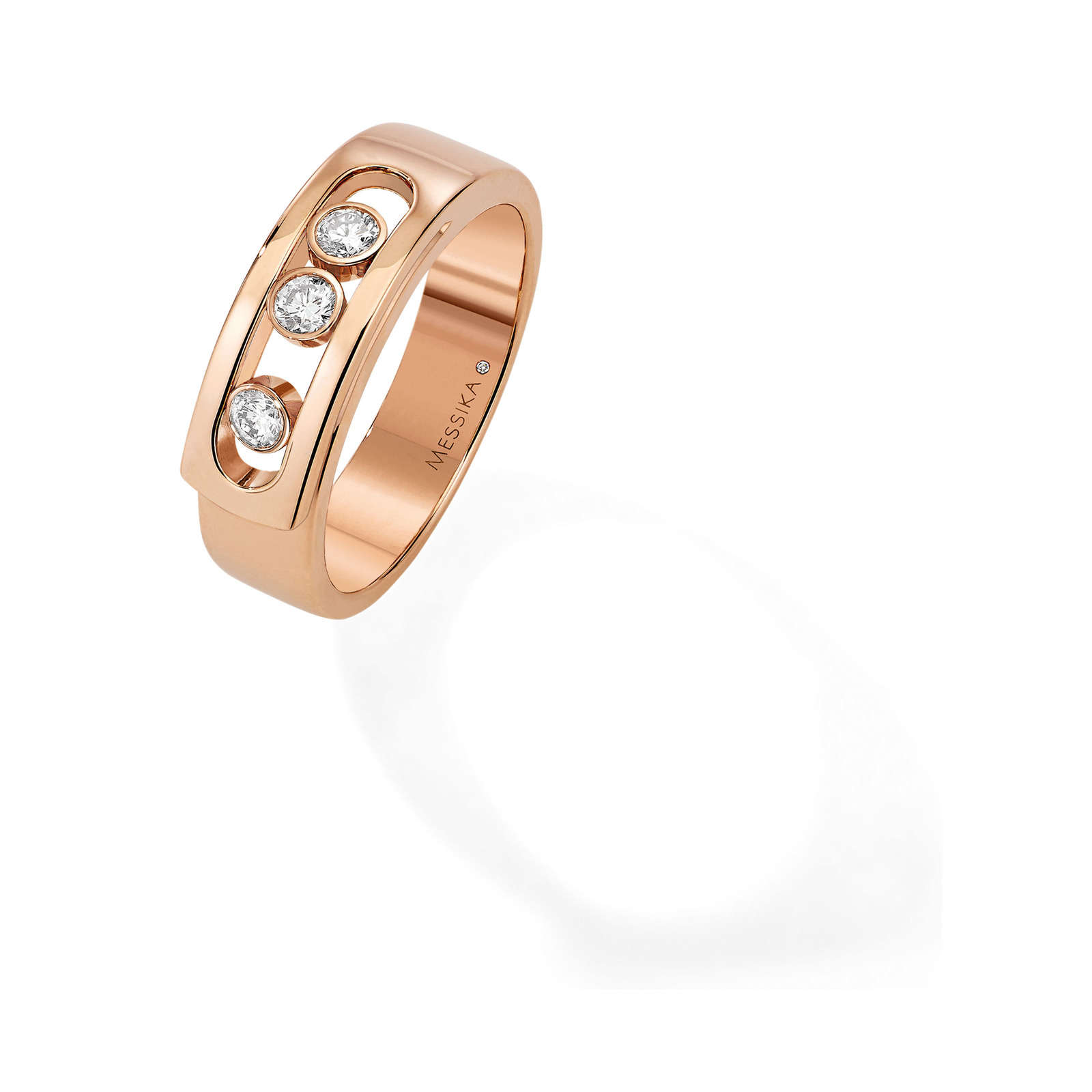 Messika 18ct Rose Gold Move Diamond Ring - Ring Size J
