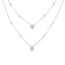 Messika 18ct White Gold My Twin 2 Row Necklace