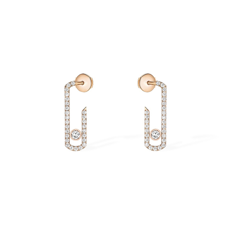 For Her - Messika Move Addiction Diamond Pave Earrings - 6856-PG