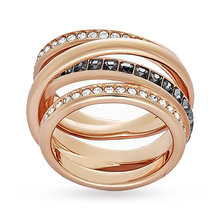 Swarovski Ladies' PVD Rose Plating Dynamic Ring - Ring Size 55