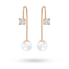 SWAROVSKI Attract Crystal Pearl Wire Earrings 5193614