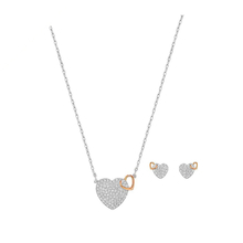 SWAROVSKI Jewellery Ladies' Rhodium Plated Dear Gift Set