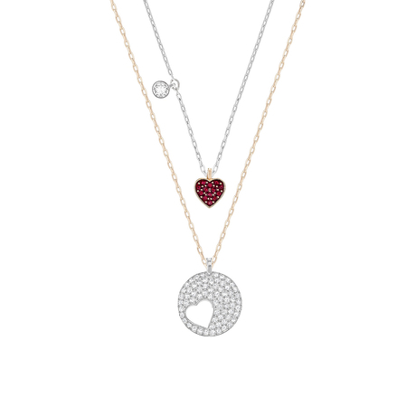 For Her - SWAROVSKI Rhodium Plated Necklace - 5255351