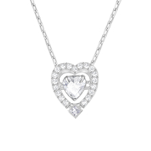 SWAROVSKI Jewellery Ladies' Rhodium Plated Sparkling Heart Necklace