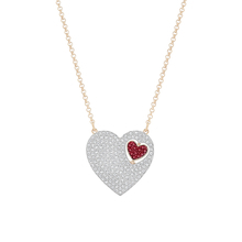 SWAROVSKI Jewellery Ladies' Rose Gold Plated Great Heart Necklace