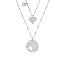 SWAROVSKI Jewellery Ladies' Rhodium Plated Crystal Wishes Set of Two Necklaces