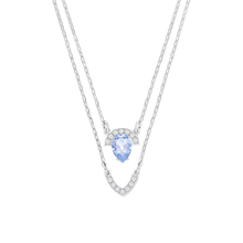SWAROVSKI Jewellery Ladies' Rhodium Plated Gallery Layered Necklace