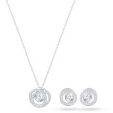 SWAROVSKI Jewellery Ladies' Rhodium Plated Generation Necklace and Earring Set