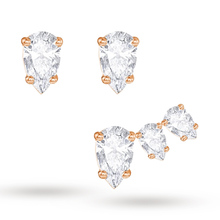 SWAROVSKI Jewellery Ladies' Rose Gold Plated Attract Earrings