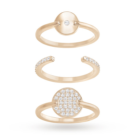 For Her - SWAROVSKI Ginger White Crystal Ring Set - 5284081