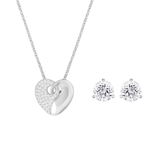 SWAROVSKI Exclusive Silver Ladies Necklace and Earrings