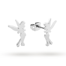 Disney Couture White Gold Plated Tinkerbell Stud Earrings