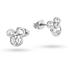 Disney Couture Silver-plated Crystal Mickey Mouse Stud Earrings