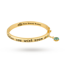 Disney Couture Gold Plated Pinocchio Wish Upon A Star Bangle