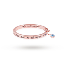 Disney Couture Rose Gold Plated Pinocchio Wish Upon A Star Bangle