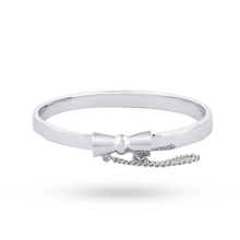 Disney Couture White Gold Plated Minnie Mouse Classic Bow Bangle