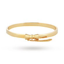 Disney Couture Gold Plated Minnie Mouse Classic Bow Bangle