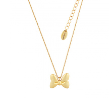 Disney Couture Gold Plated Minnie Mouse Bow Necklace
