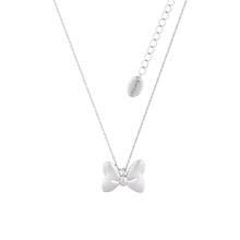 White Gold Plated Minnie Mouse Bow Necklace