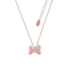 Disney Couture Rose Gold Plated Minnie Mouse Bow Necklace