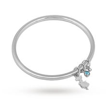 Disney Couture White Gold Plated Alice In Wonderland Charm Bangle