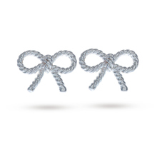 Olivia Burton Vintage Bow Earrings Silver