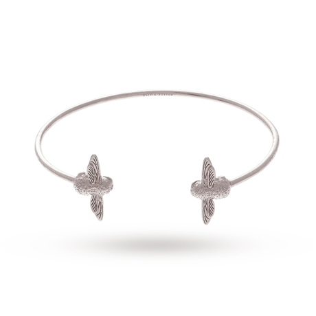 For Her - Olivia Burton Double Bee Bangles Silver - OBJ16AMB03