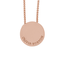 Olivia Burton Disc Necklaces Rose Gold