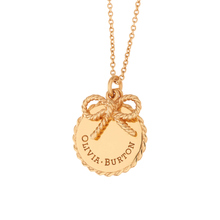 Olivia Burton Coin and Bow Necklaces Gold