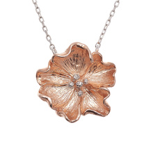 Olivia Burton Flower Show Necklace Rose Gold & Silver OBJ16FSN01