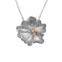 Olivia Burton Flower Show Poppy Necklace Silver & Rose Gold OBJ16FSN03