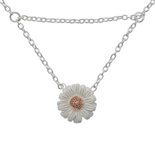 Olivia Burton Daisy Drop Necklace Silver/rose Gold OBJ16DAN02