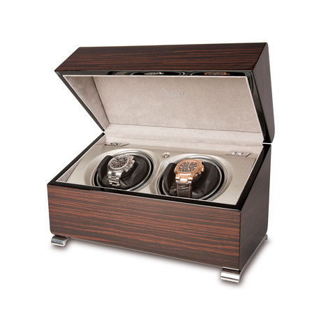 Rapport Vogue Macassar Duo Watch Winder