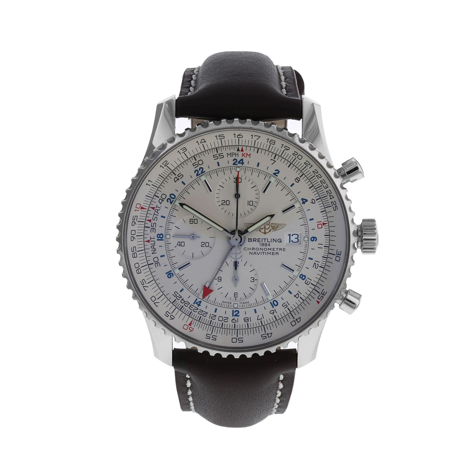 Pre-Owned Breitling Navitimer World Men's Watch