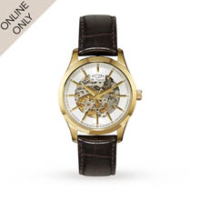 Rotary Mens Jura Skeleton Automatic Watch